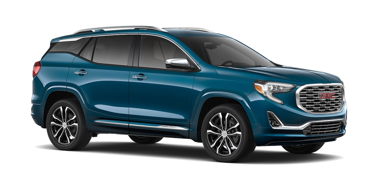 GMC Terrain 2019 camioneta familiar color azul báltico