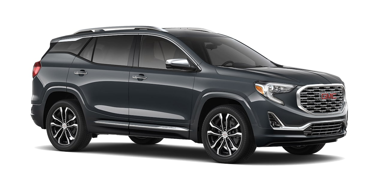 GMC Terrain 2019 camioneta familiar color gris basalto metálico