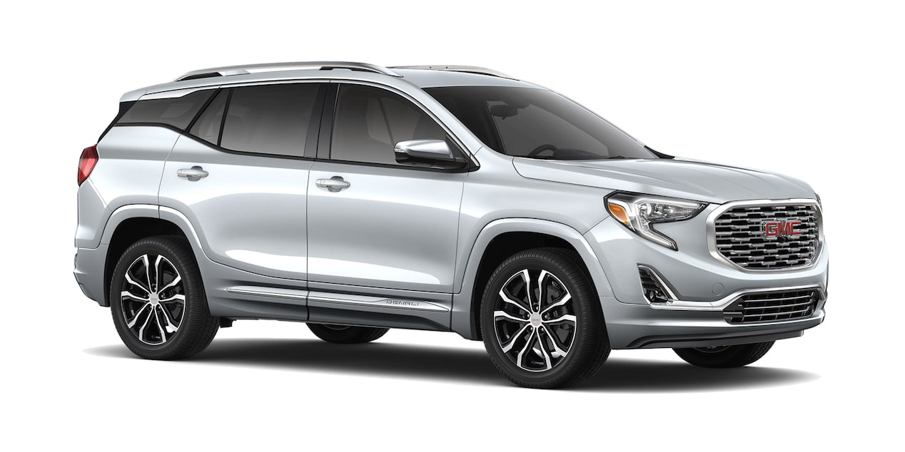 GMC Terrain 2019 camioneta familiar color plata brillante