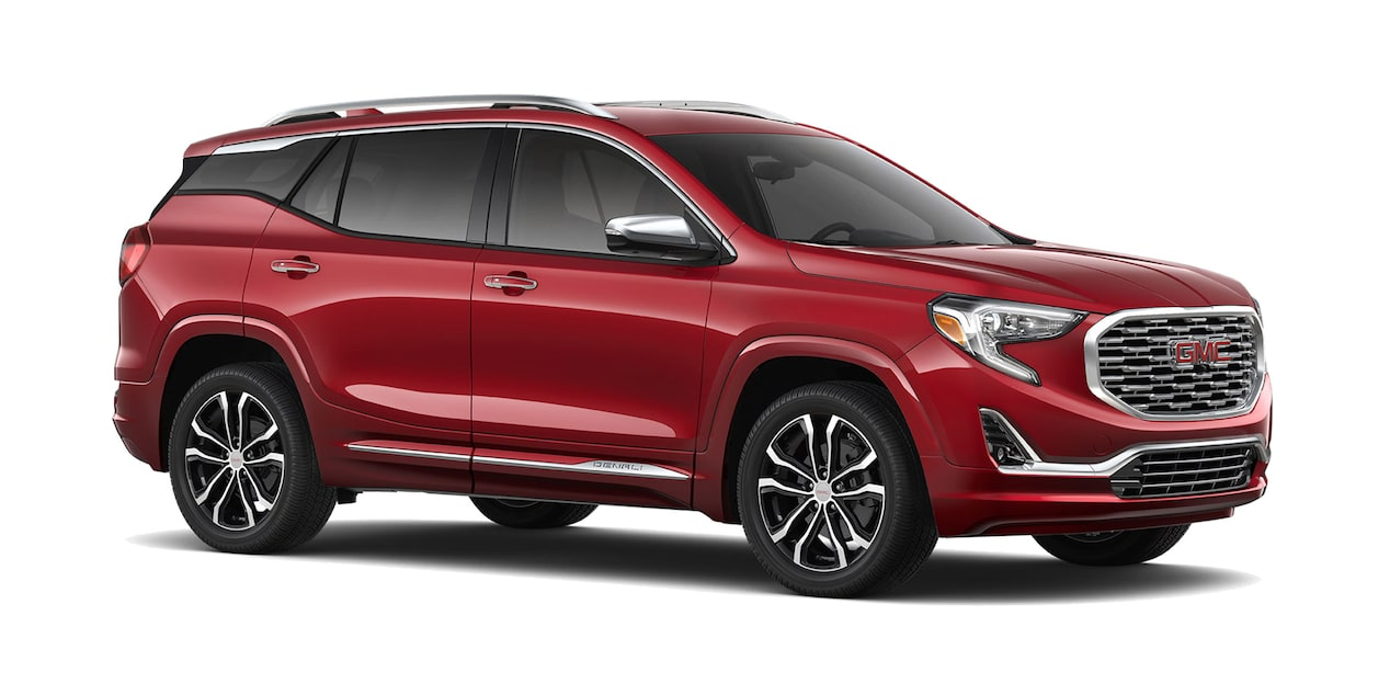 GMC Terrain 2019 camioneta familiar color rojo escarlata