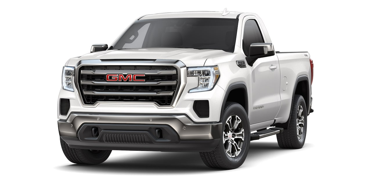 GMC Sierra Regular 2019 4x4 color blanco platino