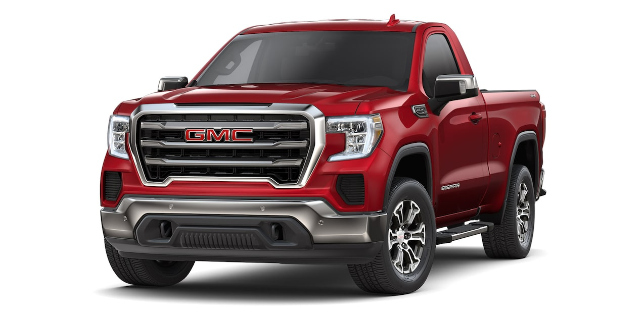 GMC Sierra Regular 2019 4x4 color rojo escarlata